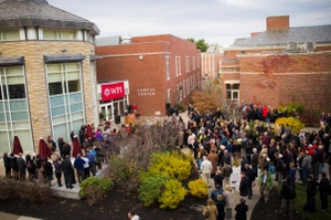 In 2013 the campus gathered to celebrate the deciation of the Rubin Campus Center.