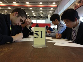 St. John's High School of Shrewsbury, Mass., was among the nearly 100 high schools at last year's Math Meet.