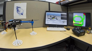 The research team plans to test its algorithms on this UAV prototype
