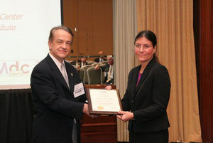 Diana Lados receives the Orr Early Career Award.