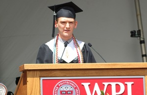 Joseph Gay '14 delivered the student remarks