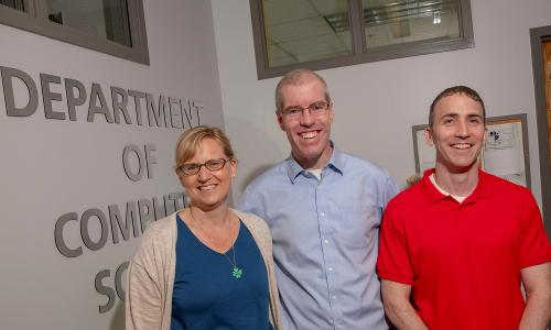 ASSISTments creators Cristina and Neil Heffernan are working with Jacob Whitehill (right) and colleagues at Lesley University to develop a teacher feedback tool. alt