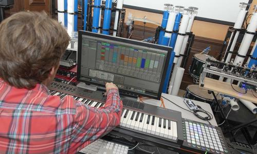 Scott Barton at the musical helm.
