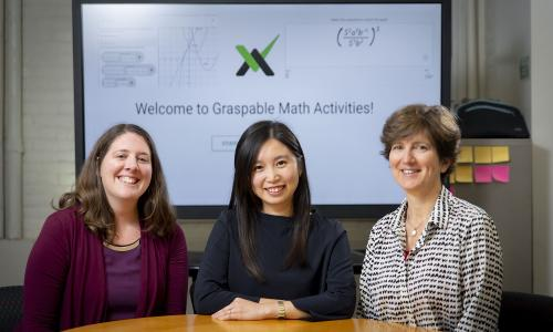 From left, Erin Ottmar, assistant professor of learning sciences and psychology; and Jenny Yun-Chen Chan and Katharine Sawrey, post-doctoral fellows in learning sciences and technology. alt