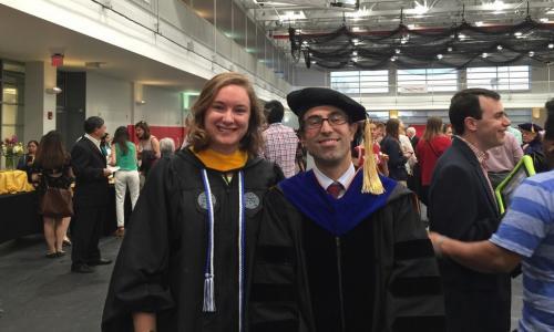 Jessica Rosewitz and Assoc. Prof. Nima Rahbar Grad Commencement 2016 alt
