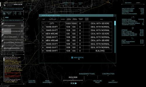 "A screen shot of ""Simulator: Fighting Against Novel Coronavirus Pneumonia."" alt"