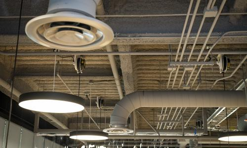 Air flow is being increased in campus buildings with mechanicl ventilation. alt