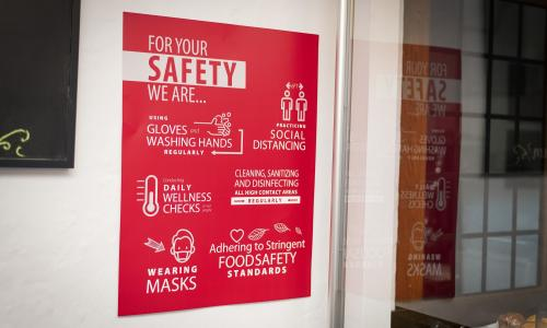 Health and Safety Guidelines Sign