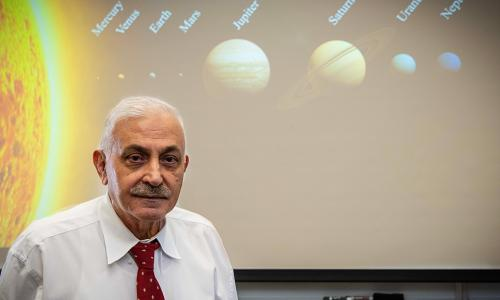 WPI mathematical physicist Mayer Humi has been studying the solar system for decades. alt