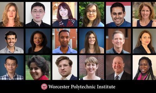 Individual photos of new WPI faculty members