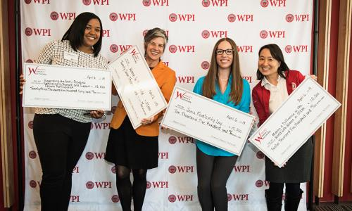 Catherine Wittington, Leslie Dodson, Andrea Arnold, and Kathy Chen received WIN Impact Grants in 2019 alt