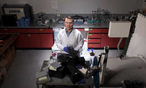 Prof. Yan Wang in lab