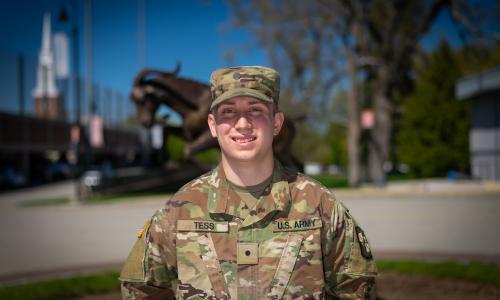 Army ROTC Cadet Spencer Tess alt