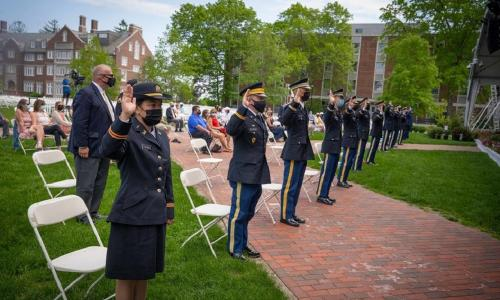 ROTC cadets take oath of office alt