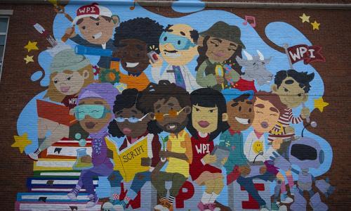 WPI mural diversity on campus