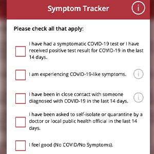 WPI COVID symptom tracker